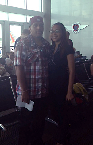 COURTESY PHOTO | Ashley Johnson with her father Dwayne in the Tampa airport about two weeks before the accident.