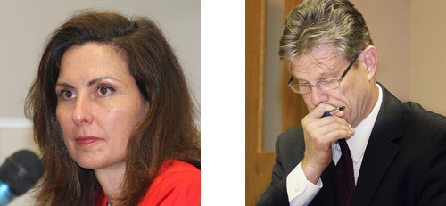 Lori Hulse and Bob Kozakiewicz will be running a primary for the town justice nomination. (Credit: Barbaraellen Koch file)