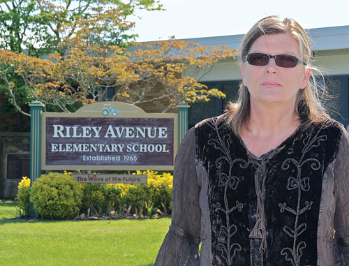 Riley Avenue Elementary School teacher Jutta Mariotti believes her handling of a second-grade student who brought a knife into the Calverton school in November only proves her capabilities as a teacher. Still, she's being terminated after this school year. (Credit: Carrie Miller)