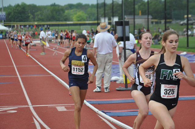 Shoreham-Wading River sophomore Katherine Lee competed at the state championships last June. (Credit: Joe Werkmeister, file)