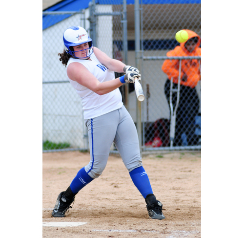 Riverhead's Karla Vanston went 2-for-2 Wednesday against Walt Whitman. (Credit: Bill Landon)