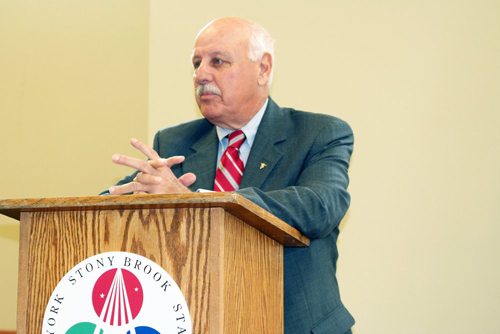 JENNIFER GUSTAVSON PHOTO | Senator Ken LaValle at a previous Calverton Business Incubator event.
