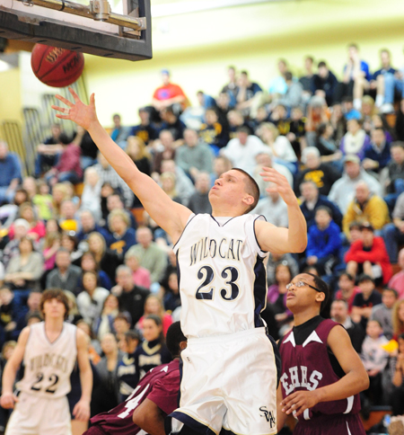 ROBERT O'ROURK FILE PHOTO  |  Shoreham-Wading River senior John Kovach is a captain for the Wildcats along with senior Robbie Bray.