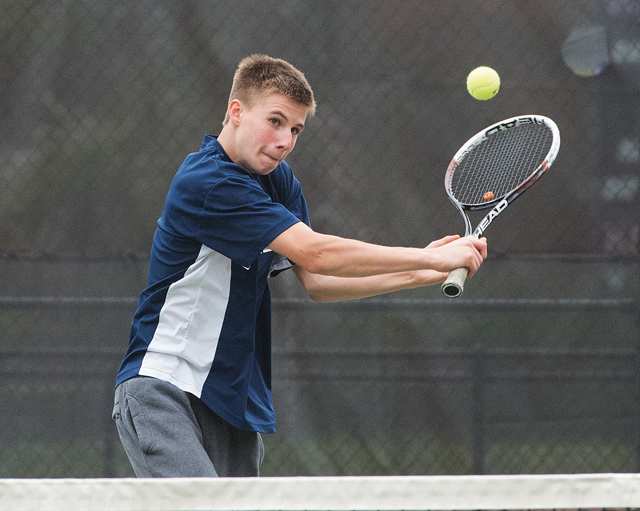 Christopher Kuhnle returns to play first singles for Shoreham-Wading River this season. (Credit: Robert O'Rourk, file)