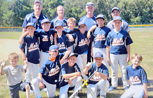 The Mattituck Mets 10-U baseball team. (Credit: Courtesy)