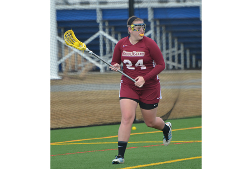 Shoreham-Wading River graduate Danielle Landon was named Little East Conference Offensive Player of the Week. (Credit: Rhode Island College Athletics)