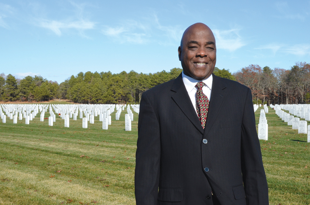 Larry Williams at Calverton National Cemetery