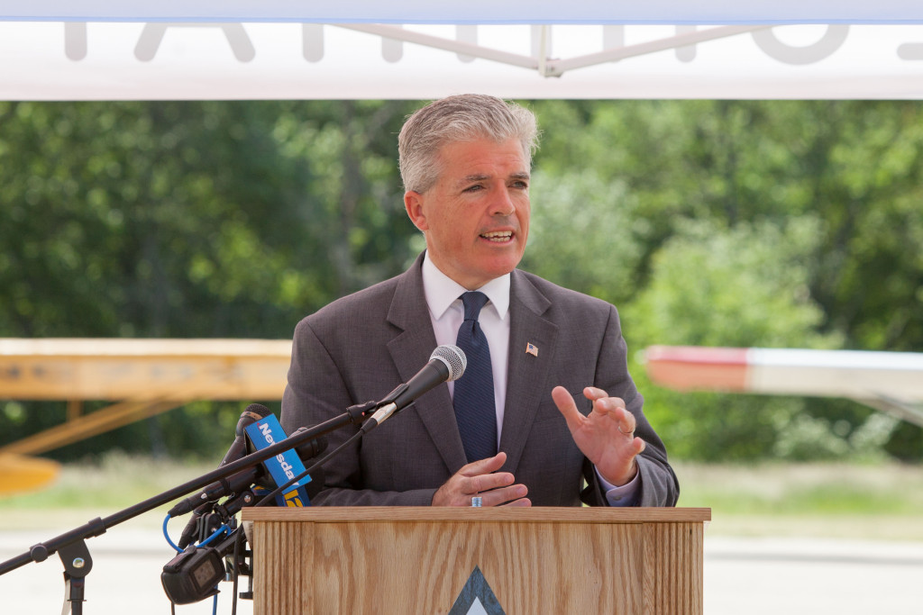 Suffolk County executive Steve Bellone. (Credit: Katharine Schroeder)