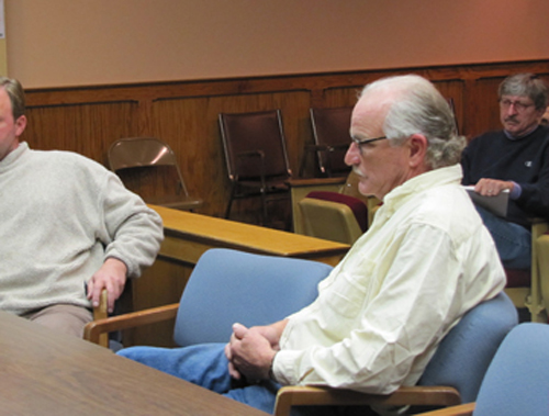 Farmer Lyle Wells at a Town Board meeting in 2011. (Credit: News-Review file)