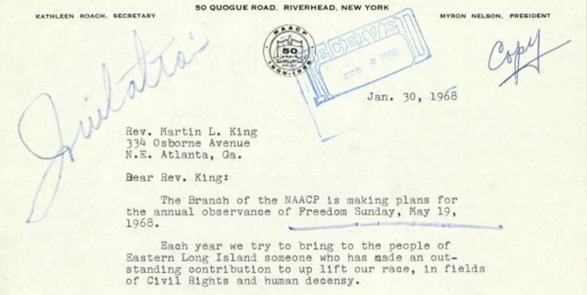 MLK letter NAACP