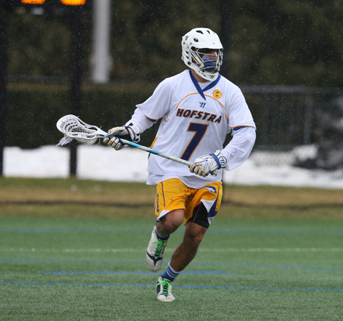 Shoreham-Wading River graduate Mike Malave. (Credit: Zack Lane/Hofstra University)