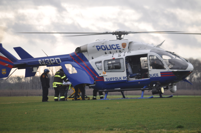 One person in the crash required a medevac. (Credit: Joe Werkmeister)