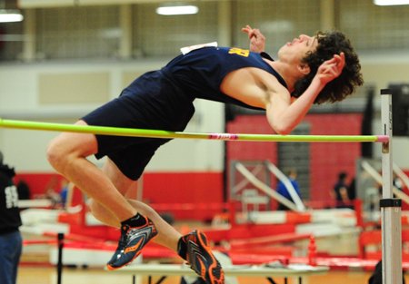 ROBERT O'ROURK PHOTO  |  Sophomore Maxwell Maritato cleared 5-04 in the high jump for third place at the League V Championship.