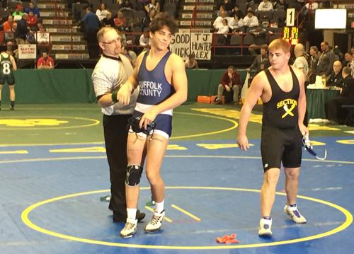 Mattituck:Greenport.Southold wrestler Tanner Zagarino 022616