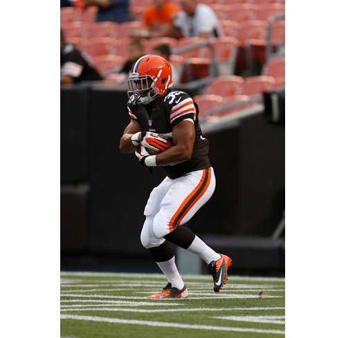AP/SCOTT BOEHM PHOTO  |  Miguel Maysonet played in his first NFL game Thursday night as the Cleveland Browns won a preseason game against the St. Louis Rams.