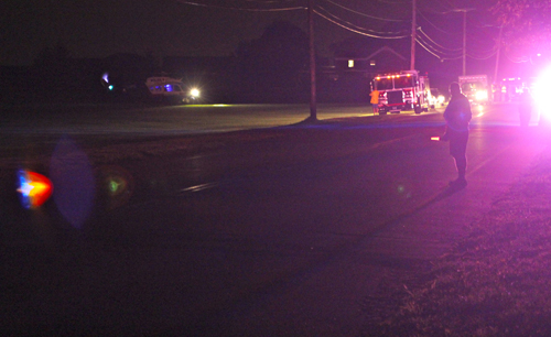 A woman was airlifted Thursday night (Credit: Jennifer Gustavson)