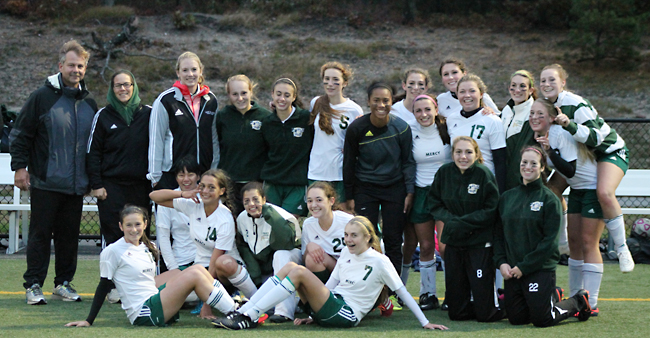 The McGann-Mercy girls soccer team will open the playoffs Monday. (Credit: courtesy photo)