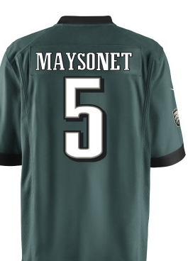 A quick glance of the Eagles roster shows Miguel Maysonet's No. 5 is available.