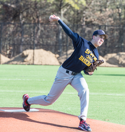 John Montesano will be part of a deep pitching staff for Shoreham-Wading River this year. (Credit: Robert O'Rourk)