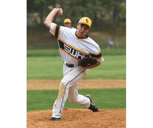 Shoreham-Wading River senior Chris Moran will take the mound against Harborfields Friday. (Credit: Robert O'Rourk)