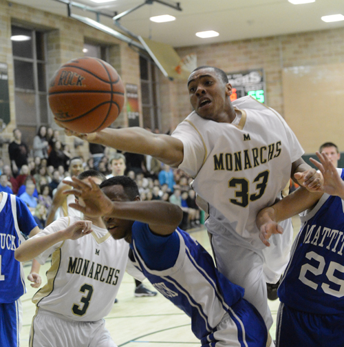 ROBERT O'ROURK PHOTO  |  McGann-Mercy junior Nykel Reese scored a team-high 16 points Friday night.