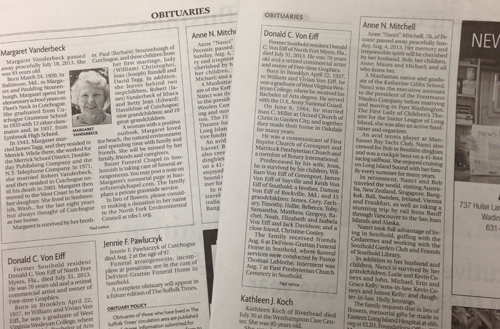Obituary Activity Template and Rubric