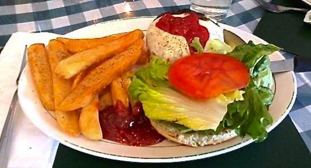 A burger at O'Malley's