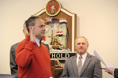CARRIE MILLER PHOTO | Highway Superintendent Vincent Orlando during his swearing in ceremony on Thursday.