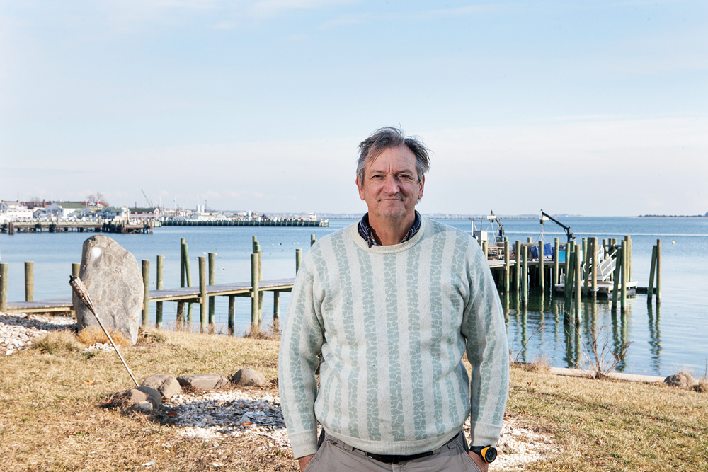 KATHARINE SCHROEDER PHOTOMike Osinski at his home in Greenport.