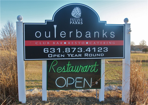 Outerbanks Restaurant at Indian Island Golf Course. Barbaraellen Koch photo.