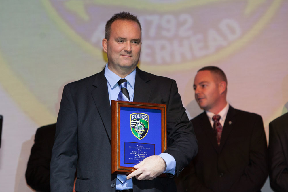 Christopher Parkin with his award. (Credit: Katharine Schroeder)