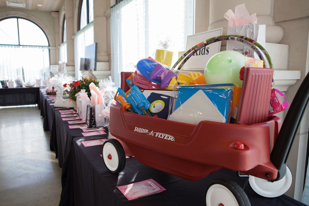 Some of the many auction items at the gala.