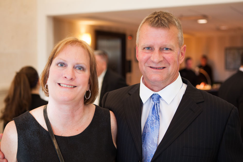 Lou Harris of Suffolk County National Bank and his wife Wendy Harris.