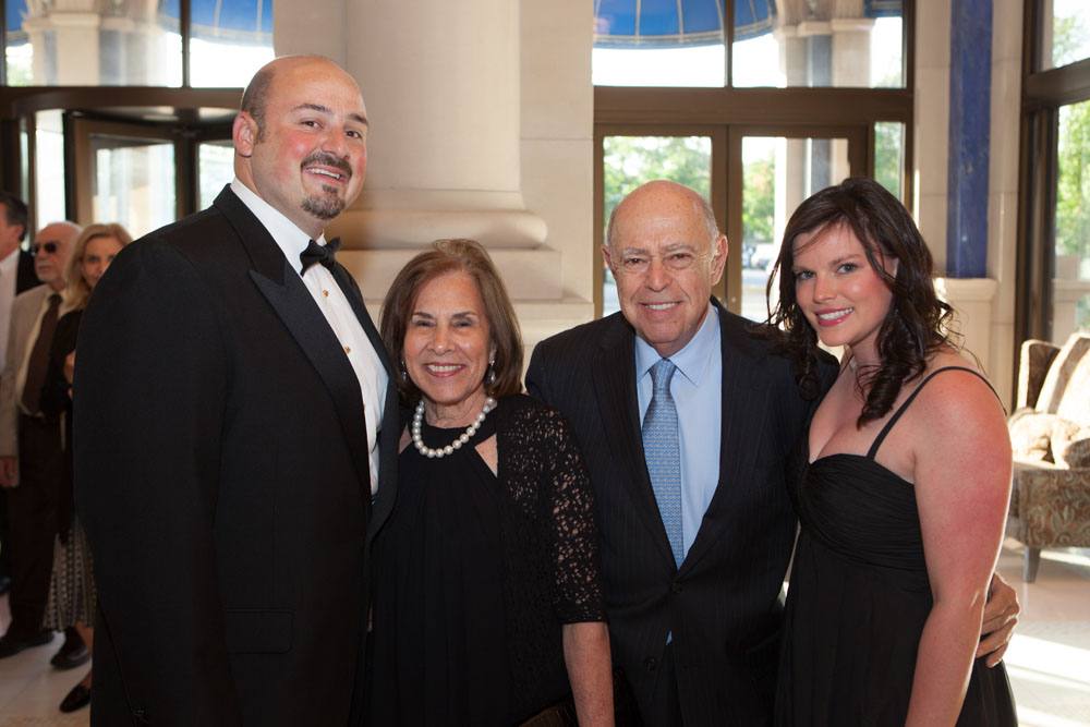 From left:  Ike Israel, Marcia and Sheldon Gordon, and Stephanie Israel.