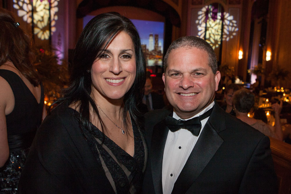 Dr. George Ruggerio, head of Family Medicine, with wife Tina. (Credit: Katharine Schroeder)