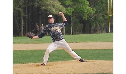 Bayport-Blue Point ace Jack Piekos pitched a complete game five-hitter against Shoreham Wednesday. (Credit: Joe Werkmeister)