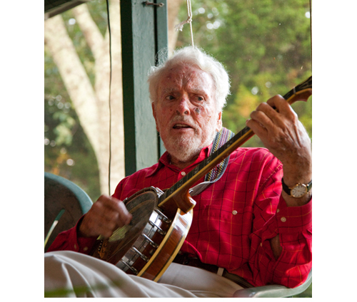 PIKE FAMILY COURTESY PHOTO | A recent photo of Otis Pike playing the ukulele at a family party.