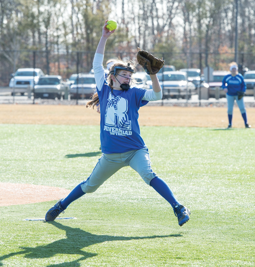 Riverhead sophomore Casey Plitt pitched nearly every inning last season for the Blue Waves. (Credit: Robert O'Rourk, file)
