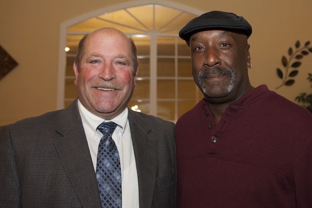 Town Councilman James Wooten, left, with George Woodson, Highway Superintendent.