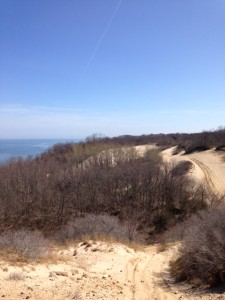 A view of the Long Island Sound to the east from the bluffs. (Credit: Richard Wines)