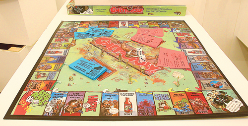 "BARBARAELLEN KOCH PHOTO A game based on Monopoly which came out in 2003 called ""Ghettopoly""."