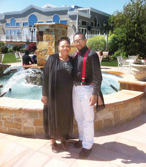 COURTESY PHOTO  |  Juanita Trent with Demitri Hampton this past Mother's Day.