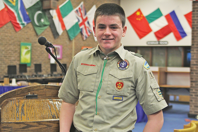 'I hope with everyone's help we can honor Tom [Cutinella's] memory in a respectful way,' said Ryan Ledda, who is proposing a memorial for Tom as his Eagle Scout project. (Credit: Jen Nuzzo)
