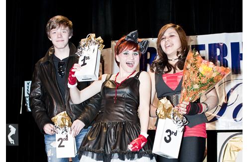 First place winner in 2011 Emma Bernhardt, center, second place winner Dakota Cohen, left, and third place winner Savannah Medina. (Credit: John Neely, file)