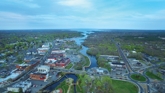 I've seen downtown Riverhead and Riverside many times in my life, but never from this angle. Beautiful! (Credit: Andrew LePre/LePre Media)