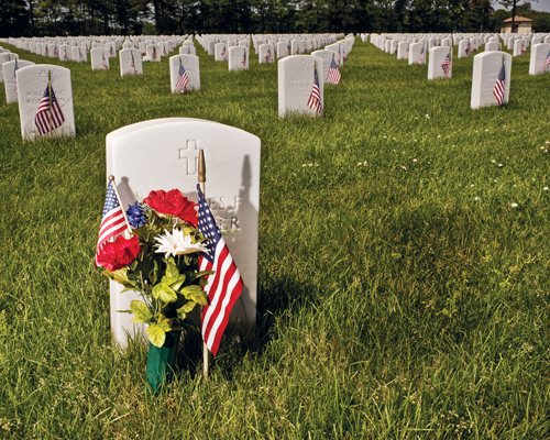 JOHN NEEELY FILE PHOTO | Calverton National Cemetery will host its annual Memorial Day service at 1 p.m. Monday.