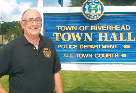 BARBARAELLEN KOCH FILE PHOTO | Vince Tria outside Riverhead Town Hall during happier times. Mr. Tria served the town as a volunteer downtown ombudsman under former supervisor Phil Cardinale.