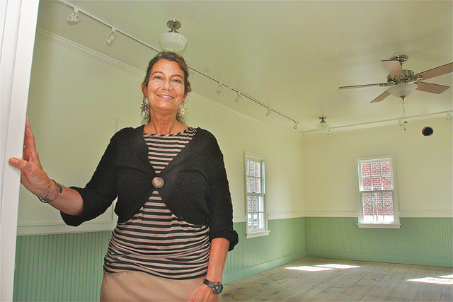 East Ends Arts education director Diane Giardi will be organizing activities at the schoolhouse building. (Credit: Barbaraellen Koch)