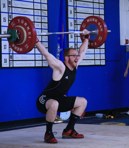 A former Shoreham-Wading River athlete, Kevin Galligan lifted 264 pounds in the clean and jerk. (Credit: Sarah Valentine/Team Connecticut Weightlifting)