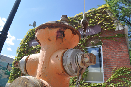 This hydrant on E. Main Street will be painted soon. (Credit: Claire Leaden)